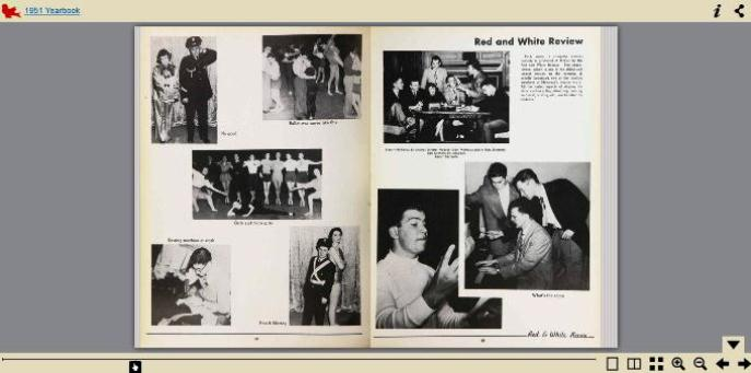 Screenshot of digitized pages from the 1951 Old McGill yearbook