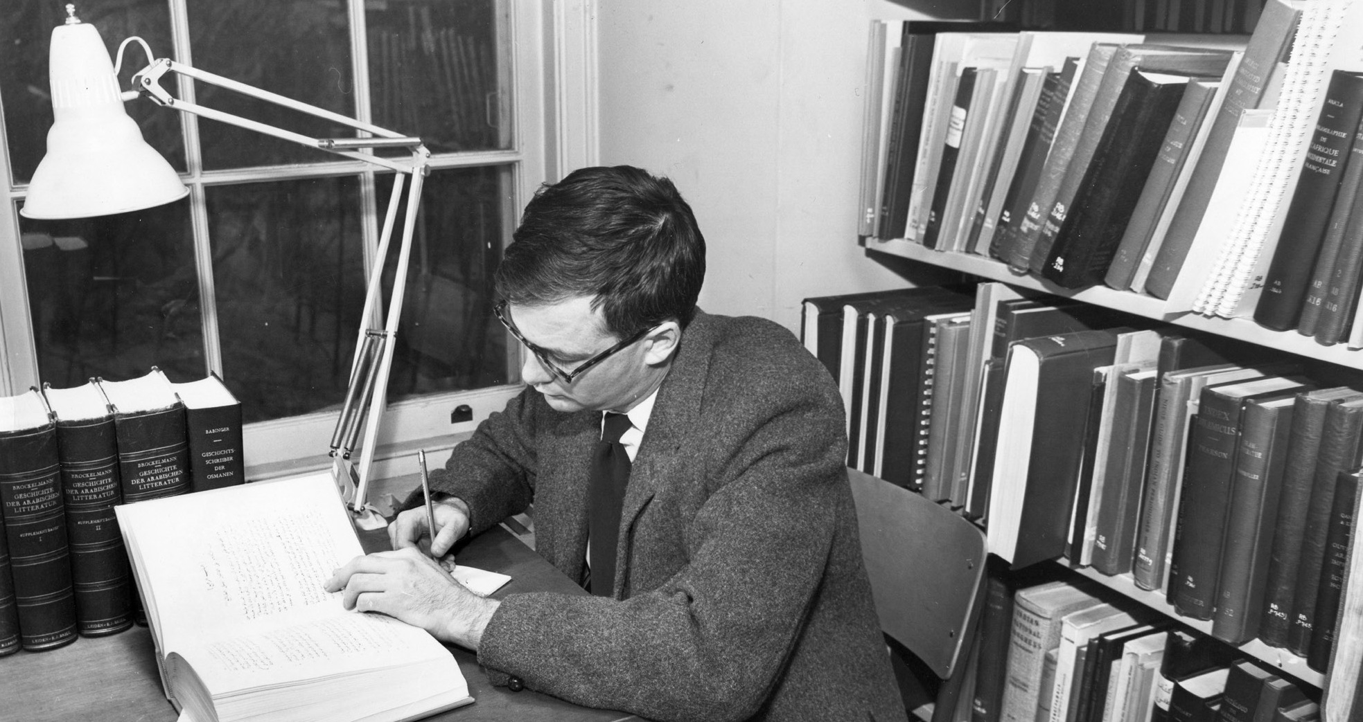 William J. Watson, First Librarian of the Islamic Studies Library, c. 1955