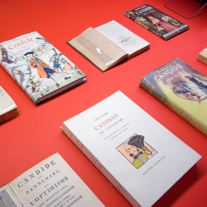 Illustrated Candide covers from the recent exhibit entitled Voltaire: A Sampling from the J. Patrick Lee Collection.