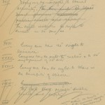 Detail from Humphreys handwritten draft of the original Declaration of Human Rights