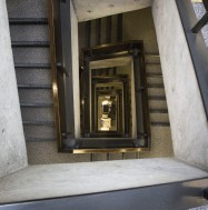 Image: Looking down from the McLennan stairs