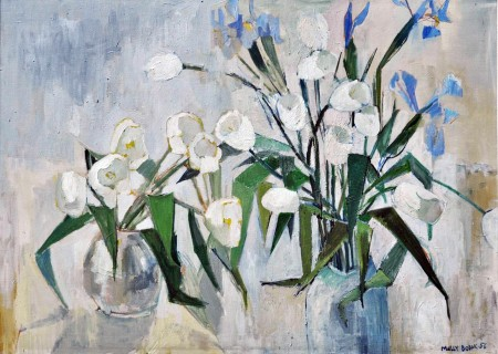 White Tulips by Molly Bobak (1956)