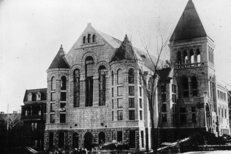 Redpath Library – 1891 (Credit: McGill University Archives, PS034687)
