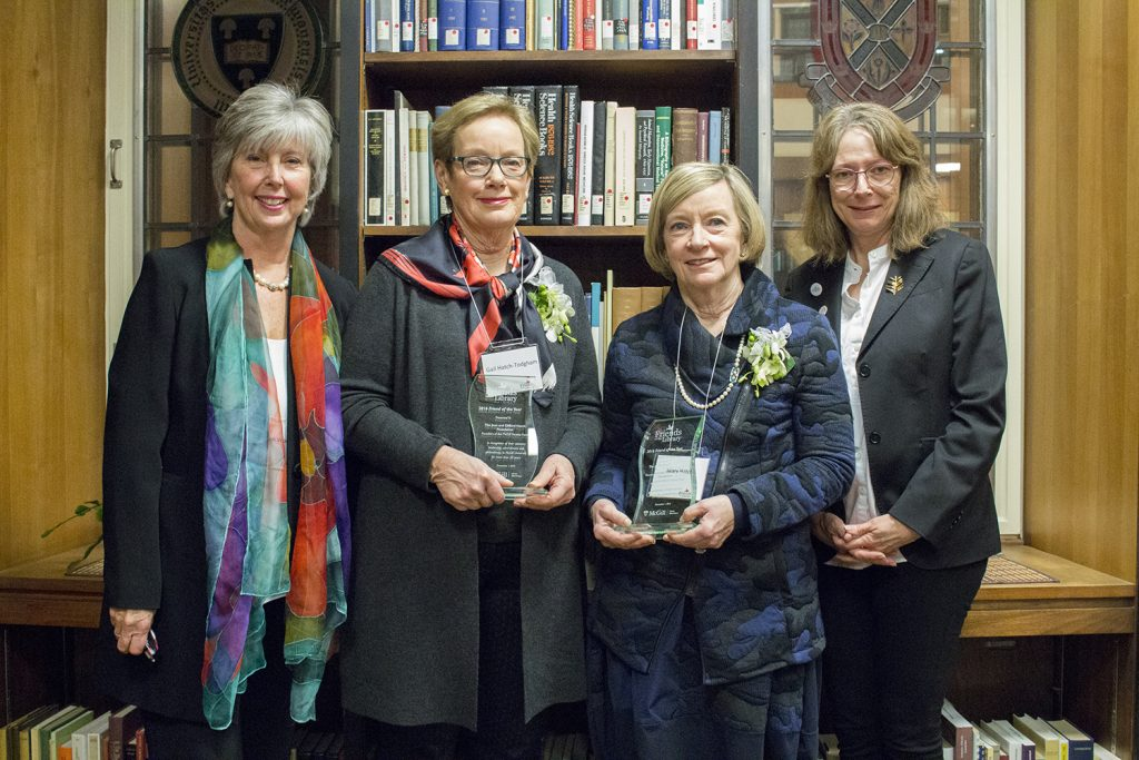 Ann Vroom, Gail Hatch Todgham, Mary Hatch and Trenholme Dean of Libraries, Colleen Cook (L to R)