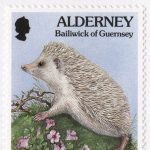 Hedgehog Stamp, Guernsey, 1994.