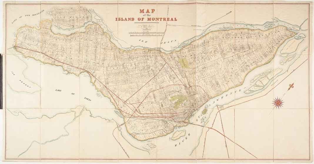 Map of the island of Montreal (1892)