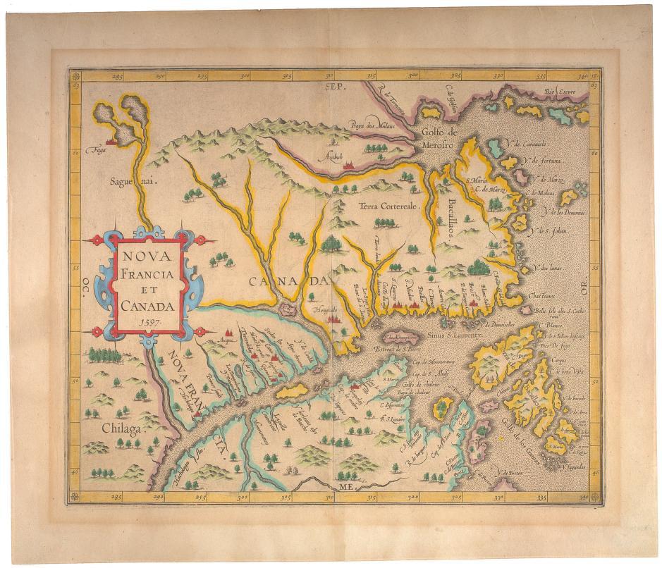 Nova Francia et Canada 1597