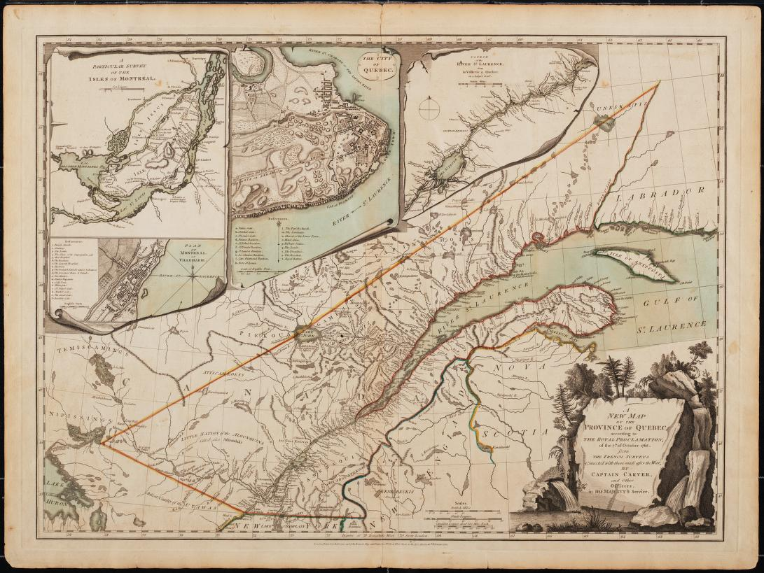A new map of the Province of Quebec, 1776