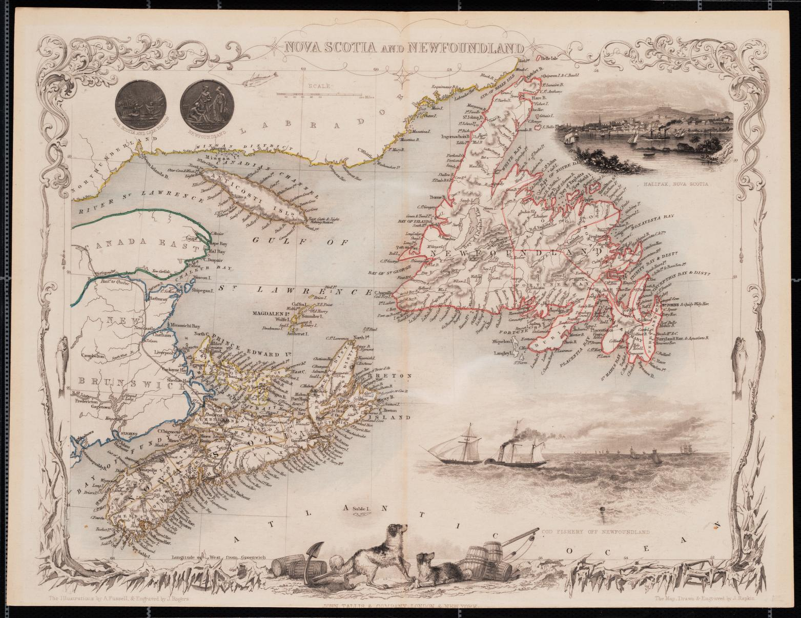 Nova Scotia and Newfoundland, 1851