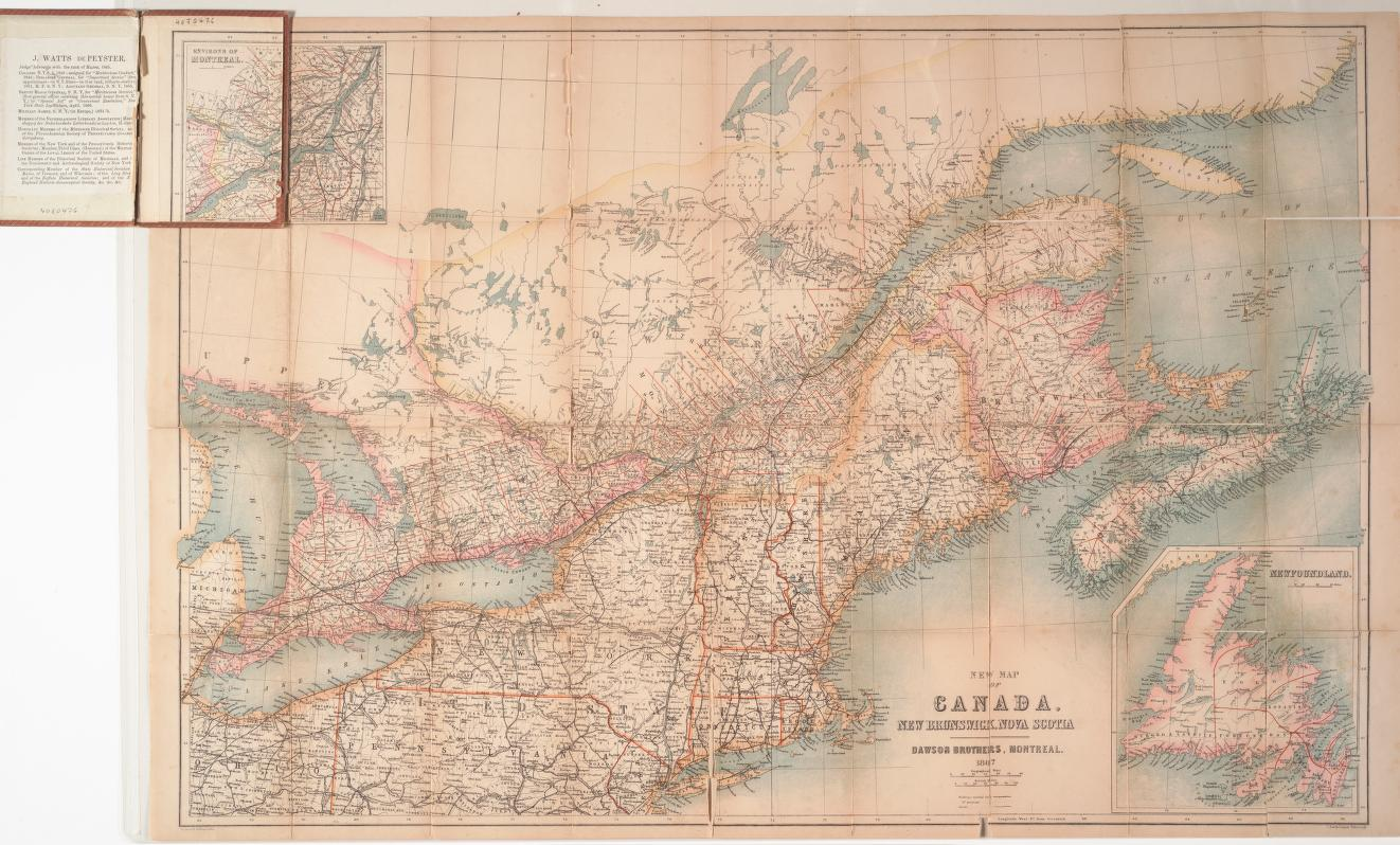 New map of Canada, New Brunswick, Nova Scotia. 1867