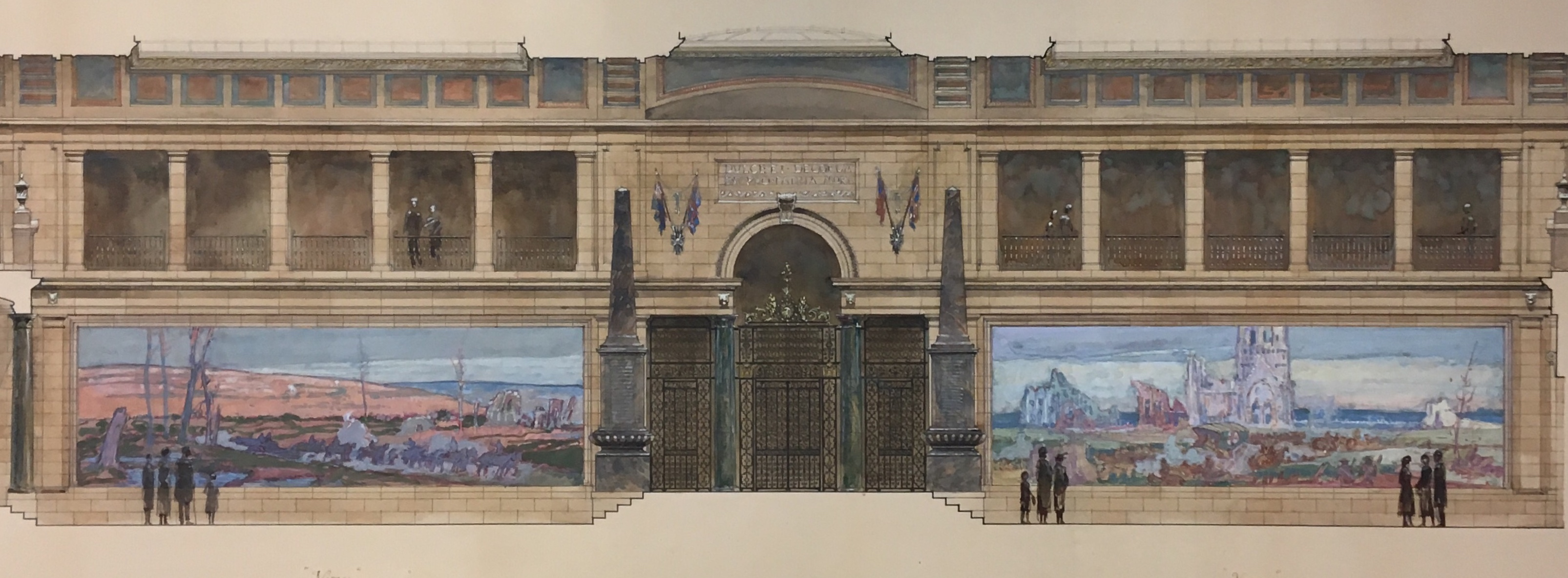 Design for Regina War Memorial Museum (unbuilt) by Percy E. Nobbs is included in Part II of the exhibition