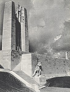 Vimy Memorial, Illustrated London News, July 25, 1936, is included in Part I of the exhibition