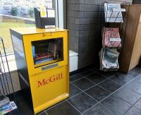 McGill Little Free Library in the Brown Student Services Building. Photo: Merika Ramundo
