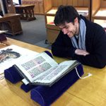 Student reading in Rare Books and Special Collections Reading Room