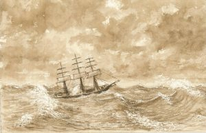 Lake Erie ship. George Mercer Dawson. 1869. McGill University Archives, Dawson-Harrington family fonds.