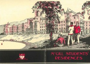 """Cover image, """"McGill Students' Residences"""" issued by the Publicity Committee of the McGill Centennial EndowmentCampaign, 1920_c.4_B0032_f.6_McGill Students' Residences, McGill University Archives."""
