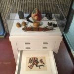Indigenous Makers Display Cabinet on the 4th Floor of the McLennan Library.