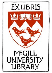 A McGill Library bookplate from the 1950s was modified to create the Ex Libris brand. Find the original in the Philip Masson Ex Libris Collection. http://digital.library.mcgill.ca/bookplates/