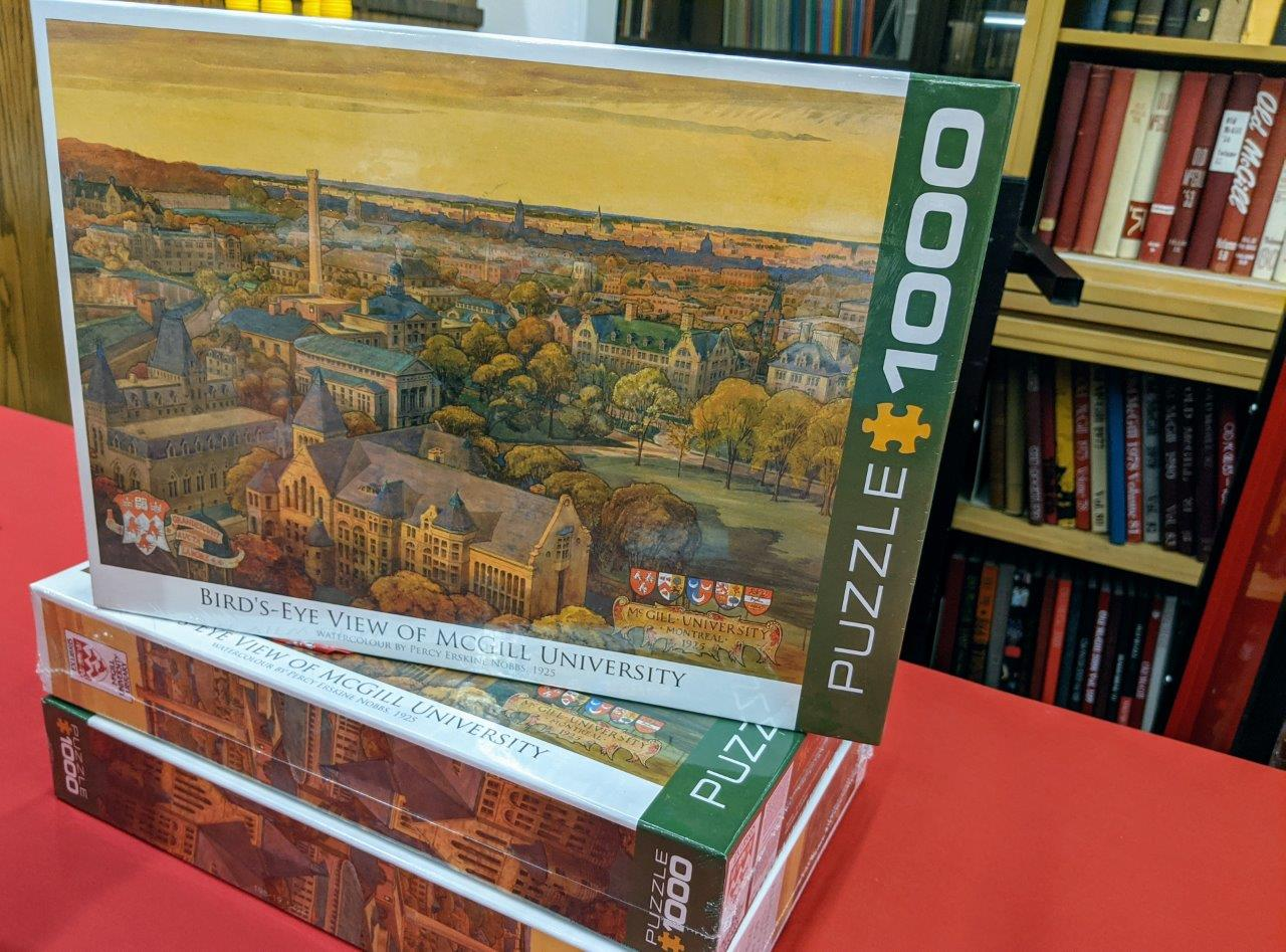 1000 Piece Puzzle | Bird's-Eye View of McGill University. Watercolour by Percy E. Nobbs, 1925. John Bland Canadian Architecture Collection. Rare Books & Special Collections. $29.99