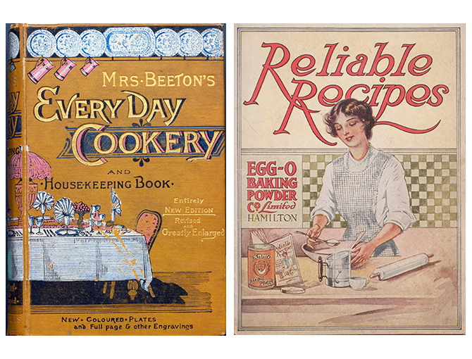 Two rare cookbook covers side by side.