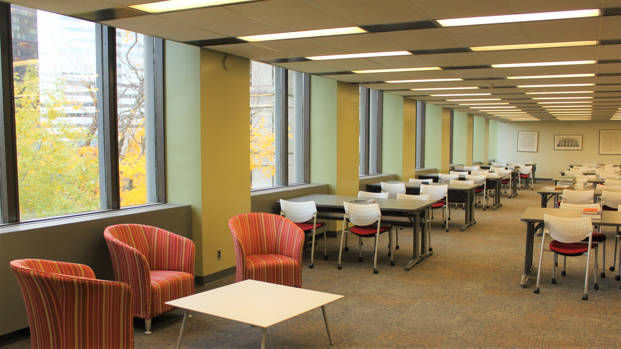 Blackader-Lauterman study space, Redpath Library Building, 3rd floor. Photo: Merika Ramundo.
