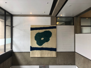 Robert Motherwell, Blue and Green, c. 1970, Wool tapestry. Gift of Regina Slatkin. Visual Arts Collection, McGill Library, 1987-002