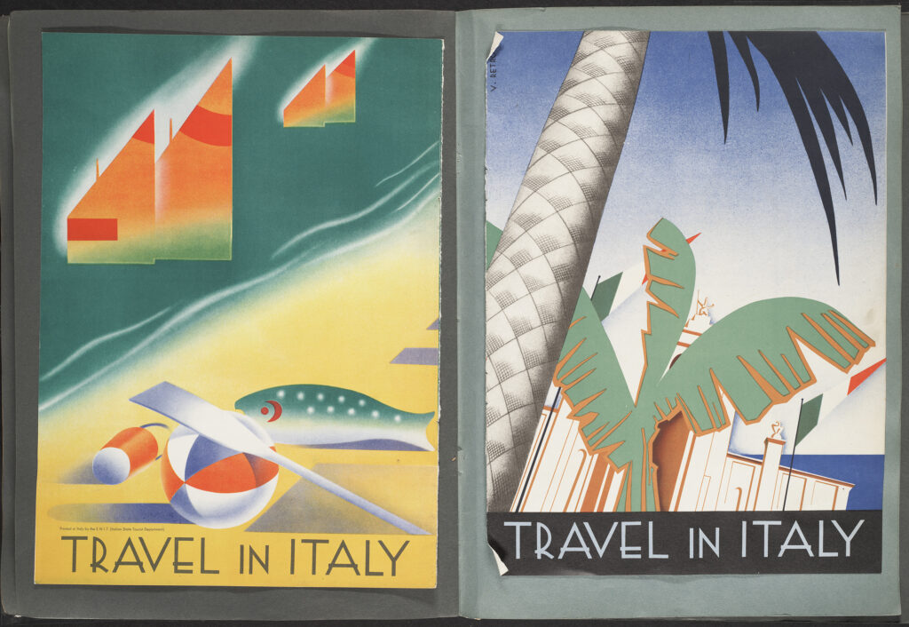 Two posters entitled Travel in Italy. 19--? Rare Books and Special Collections. McGill University Library.