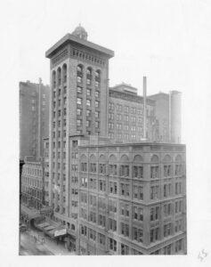 Chicago Architectural Photographic Co., Schiller Building, Exterior, Ryerson & Burnham Archives Archival Image Collection, Richard Nickel Archive, 2010.6. 201006_130B_110422-05.jpg