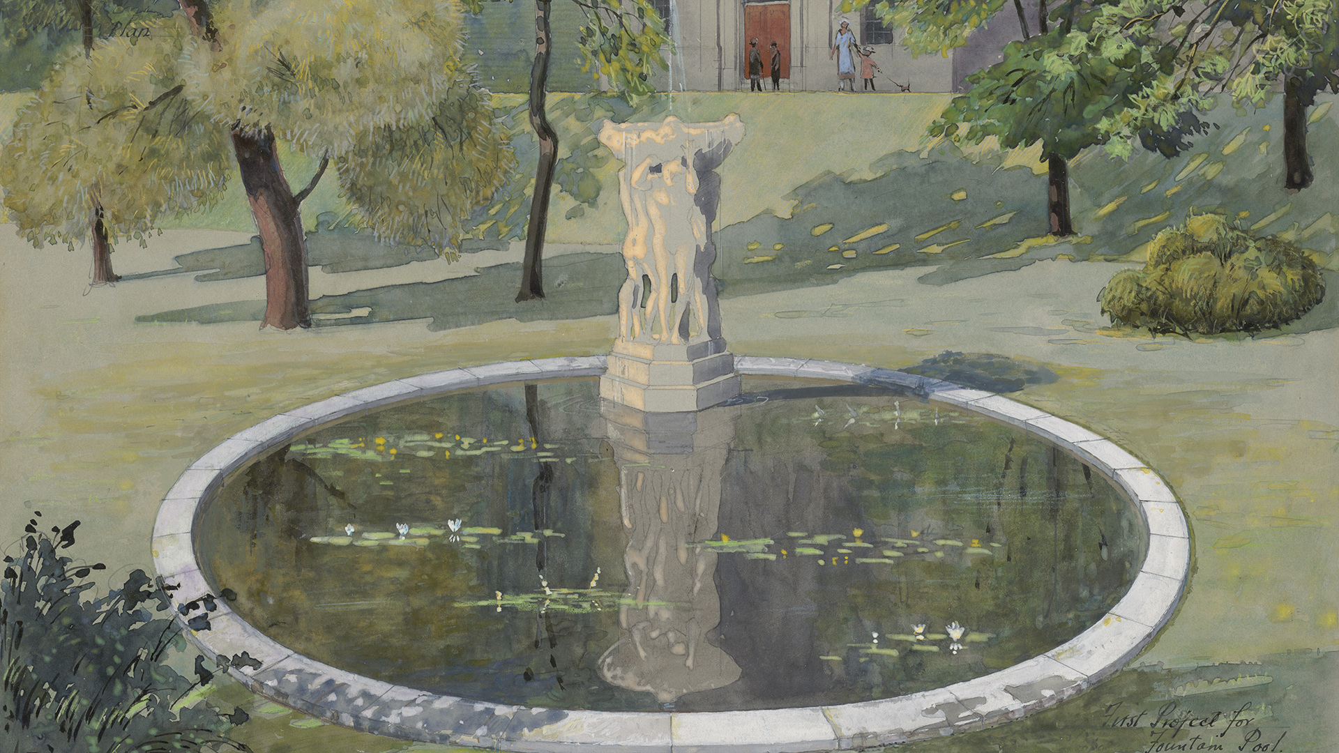 First Project for Friendship Fountain Pool   Nobbs & Hyde, 1931