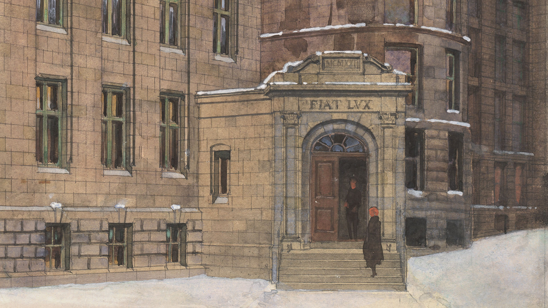 Redpath Library extension by Percy Nobbs, 1922. John Bland Canadian Architecture Collection. Rare Books and Special Collections.