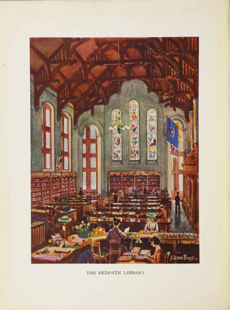 The Redpath Library (now Redpath Hall). Old McGill Yearbook, 1925.