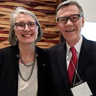 Renowned author Louise Penny with Donald Walcot at the 2018 MacLennan Lecture