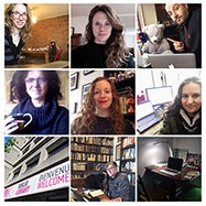 Thumbnails of Library staff in their home offices.