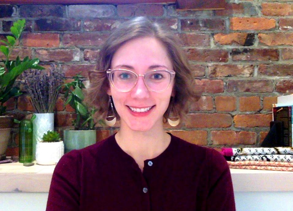 Kristen Howard in her home office.