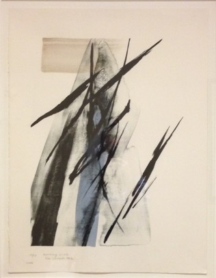 Toko Shinoda, Morning Wind, 2002, Lithographic Print, 53 x 70 cm. Gift of Dr. Joanne Jepson, M.D., C.M. '59. McGill Visual Arts Collection, 2013-184.