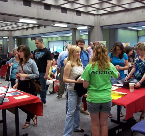 McGill Services Fair, McLennan Library Building, 2011