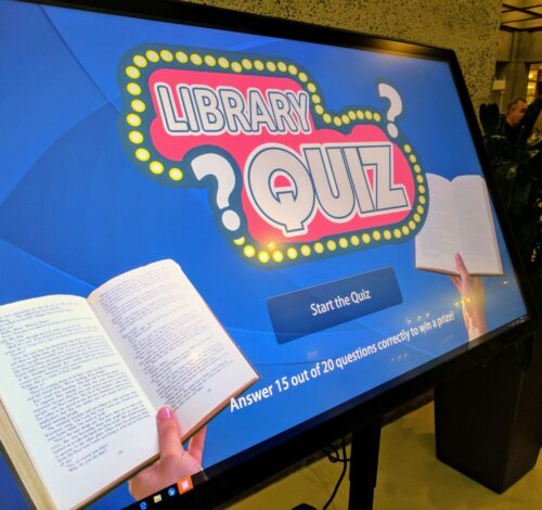 Touch table featuring Library Quiz, 2017